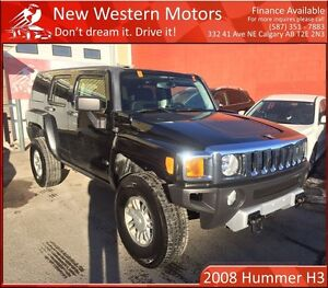 2008 Hummer H3 LOW KM! TRAILER HITCH & SHACKLES!
