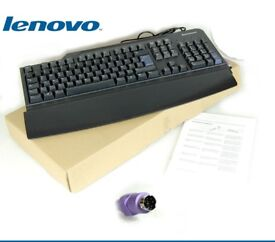 IBM branded PS2 for PC desktop keyboard, brand new and unused