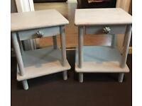 Shabby chic bedside tables