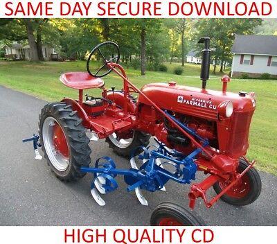 Farmall Cub Ih Classic Tractor Service Manual Plus Parts Operator Pdf On Cd