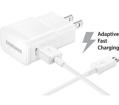50 X OEM Samsung Galaxy S7 S6 Edge Note 5 Fast Adaptive Chargers & USB Cables