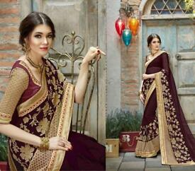 Saree indian quality dress asian desi new designer