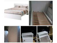 SINGLE BED WITH MATTRESS + BEDSIDE TABLE EX. CONDITION