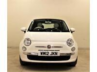 FIAT 500 1.2 LOUNGE 3d 69 BHP + 1 PREV OWNER + SH + AIR CON + AU (white) 2012