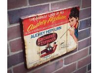 Pub decorations/ Vintage film posters on the wood from ArtPalletBrighton