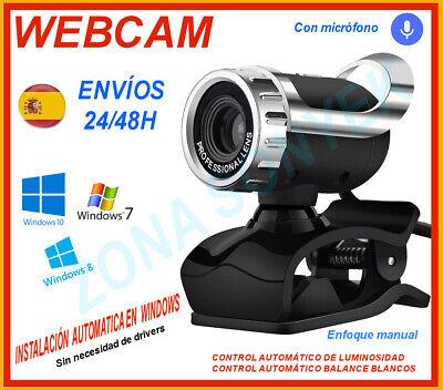 Webcam USB + microfono . Instalación automática Windows 7, 8 y 10....