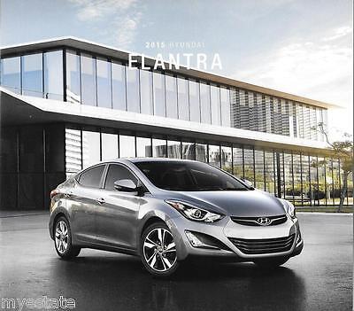 2015 15  Hyundai  Elantra  original  brochure MINT