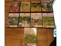 Golf DVDs and Books