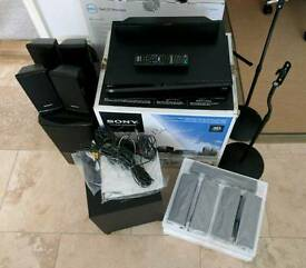 Sony BDV-E370 5.1 Blu-ray home cinema system with 2 sets of speakers and stands