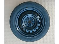 Toyota Avensis unused spare wheel with 205 55 R16 Dunlop SP Sport tyre