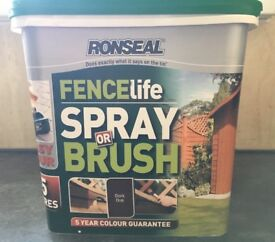 Ronseal Fence Paint x 4