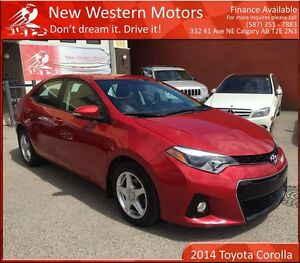 2014 Toyota Corolla S LIGHT HAIL! BCAM! HEATED LEATHER SEATS!