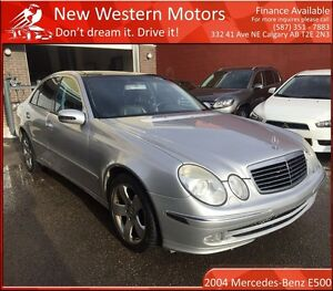 2004 Mercedes-Benz E-Class E500 4MATIC LOW KM! HEATED LEATHER!