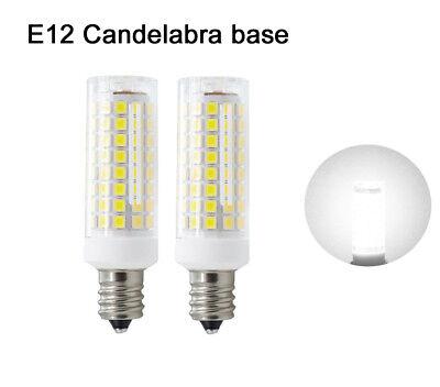 2pcs E12 Candelabra C7 LED bulb 102Led Ceramics Light 9W 110V Lamp Daylight H