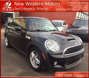 2009 MINI COOPER S LOW KM! HEATED RED SEATS! PANO ROOF!