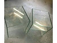 Pair of glass side tables from Dwell