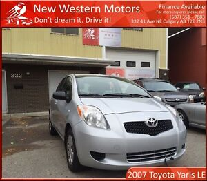 2007 Toyota Yaris LE LOW LOW KM! MINT! ONE OWNER, NEW TIRES!!!
