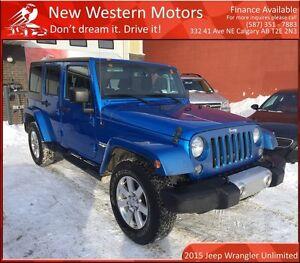 2015 Jeep WRANGLER UNLIMITED Sahara NAVI! REMOTE START!
