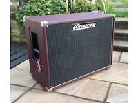 Cornford 2x12 Speaker Cabinet in Oxblood Red with Celestion V30's and Cover