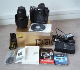 Nikon D3 Body + Nikon 24 -70 mm 2.8 A/F Lens