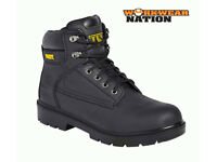 (brand new) WORK SITE SAFETY WORK BOOTS STEEL TOE BLACK; size:9 from a smoke free house