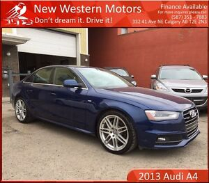 2013 Audi A4 2.0T Prestige 1 YEAR WARRANTY! BCAM! NAV! LEATHER!