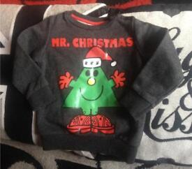 Mr men Christmas jumper 12-18mths