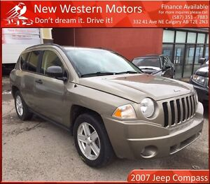 2007 Jeep Compass Sport/North HAIL SALE/HEATED SEATS/LOW KM!