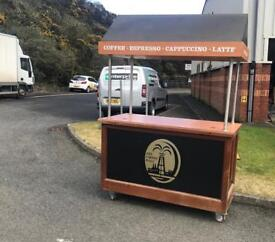 Coffee cart - catering , coffee machine