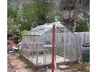 Aluminium greenhouse 10' x 8'