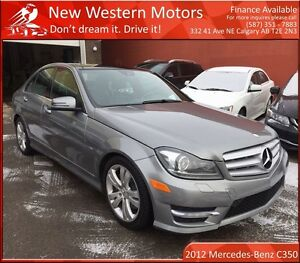 2012 Mercedes-Benz C-Class C350 AWD! B.CAM! NAVI! LOW KM!