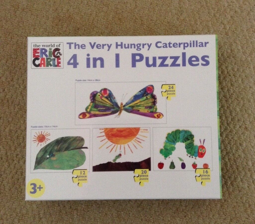 The Very Hungry Caterpillar 4 in 1 puzzles (3 of them unopened)