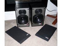 Vintage B&W DM100i 2 Way HiFi Speakers 1980's