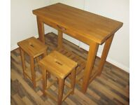 Laura Ashley Console table with stools (Used)