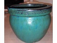 Jade green flower pot
