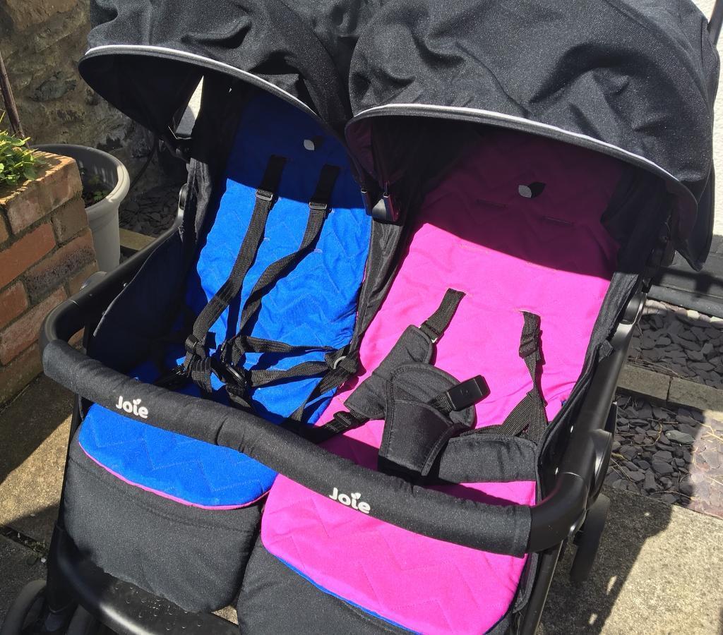 joie aire twin stroller pram pushchair pink blue in. Black Bedroom Furniture Sets. Home Design Ideas
