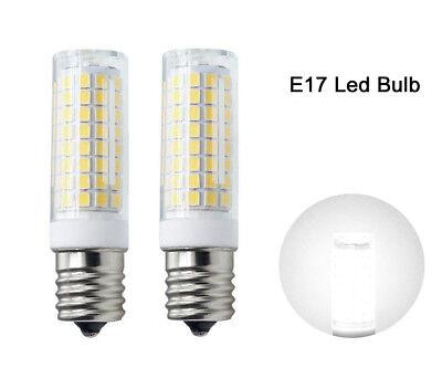2pcs E17 C9 LED bulb White 102-2835 Ceramics Light 7W 110V Lamp for Microwave H