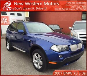 2007 BMW X3 3.0si Accident Free/One Owner/Mint/Low KM
