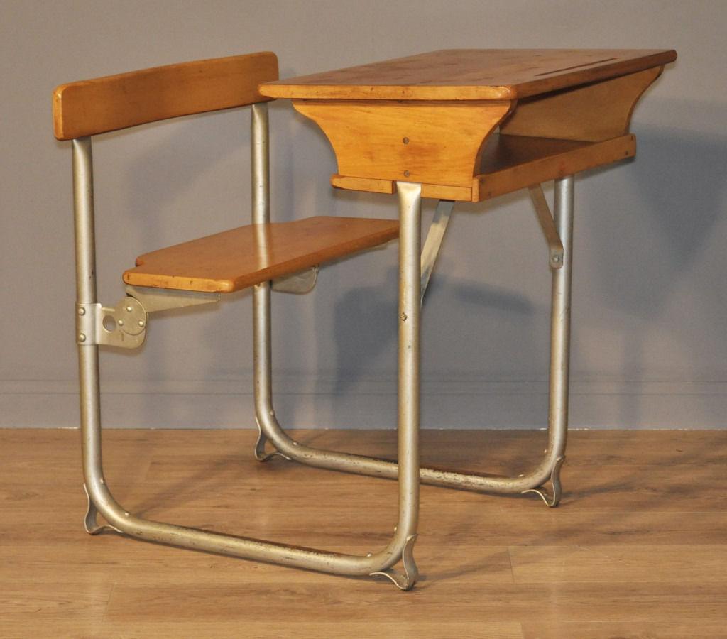 Lovely Vintage Rustic James Bennet, Glasgow Child's School Single Desk