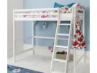 Solid pine children kids room Cabin loft bed bunk bed style white
