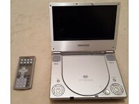 Ferguson 7 inch LCD Portable DVD Player and carrying case.