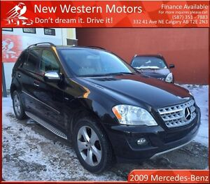 2009 Mercedes-Benz M-Class NAVI/B.CAM/HEATED LEATHER/LOW KM