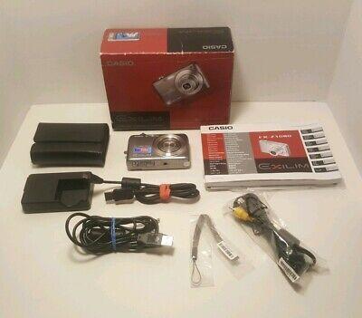 Casio Exilim EX-Z1080 Digital Camera Gray 10.1 MP with Box & -