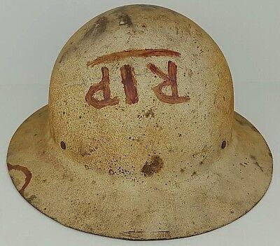 Safari Hard Hat (US Government Civil Defense Safari Wide Brimmed Metal Hard Hat Helmet)