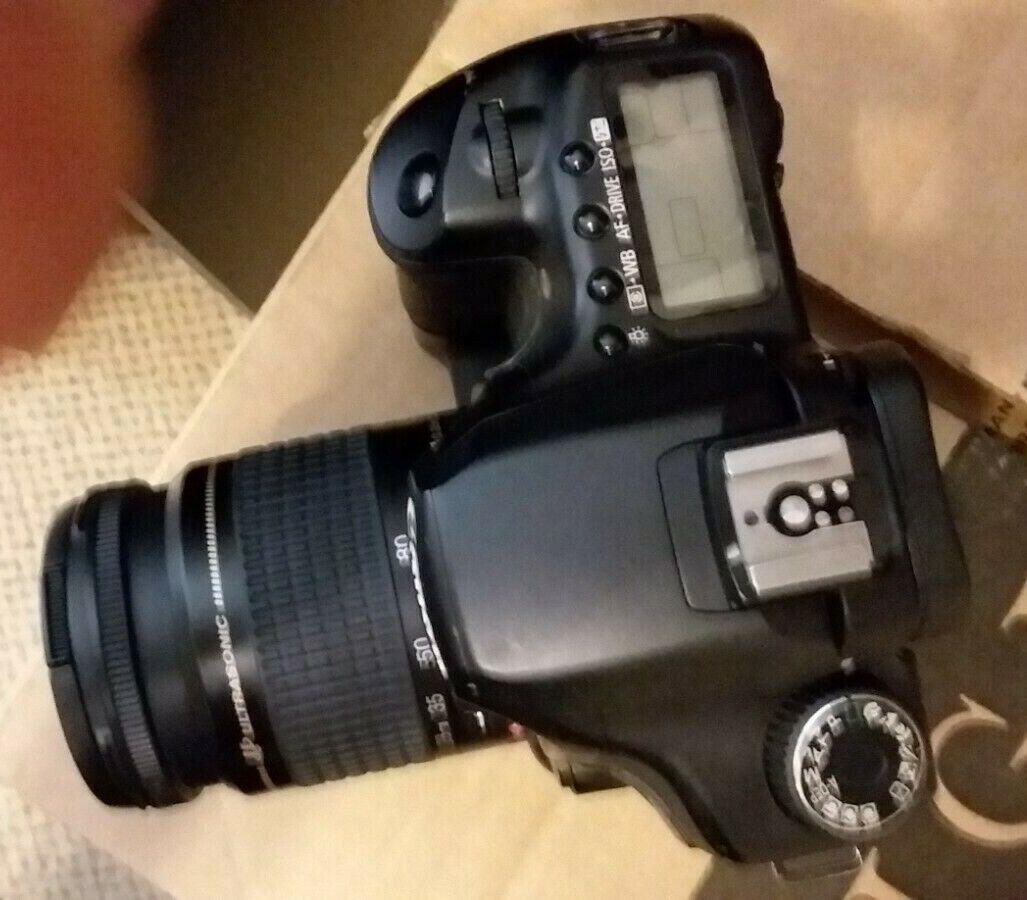 Canon 40D DSLR W/28-80 75-300 Zooms, 2-battery Grip, Charger, Pro Flash, Bag - $150.00