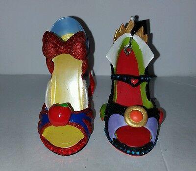Disney Snow White Evil Queen Shoe Christmas Ornaments