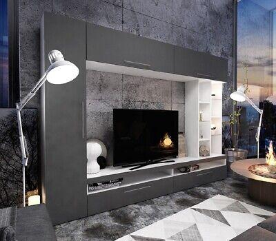 Parete attrezzata moderna mobile soggiorno modello Carolina design raffinato