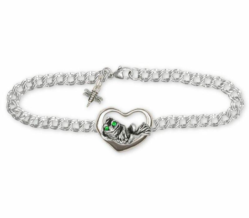 Frog  Bracelet Jewelry Sterling Silver Handmade Frog Bracelet FG17-B