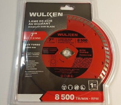 Wulken 7 In. Diamond Blade Turbo Rim Wet-dry Cut