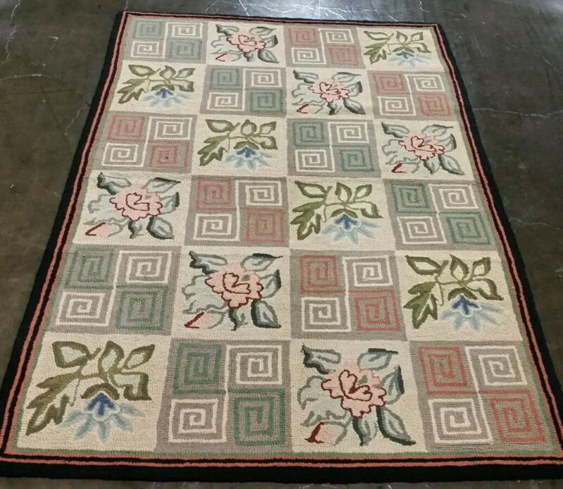 JAPANESE HAND KNOTED HOOKED RUG